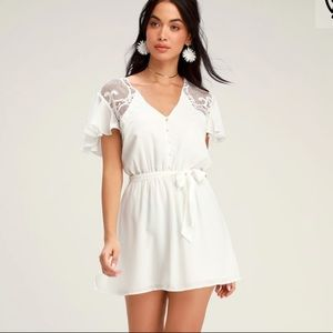 """""""First Impressions"""" White Lace Dress"""